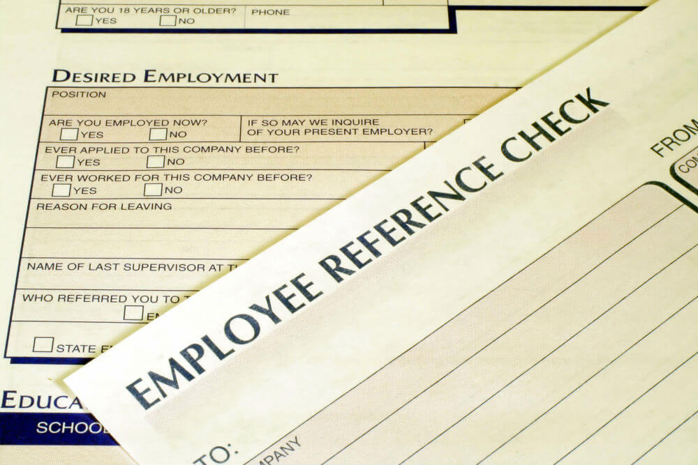 Pre-employment background check form