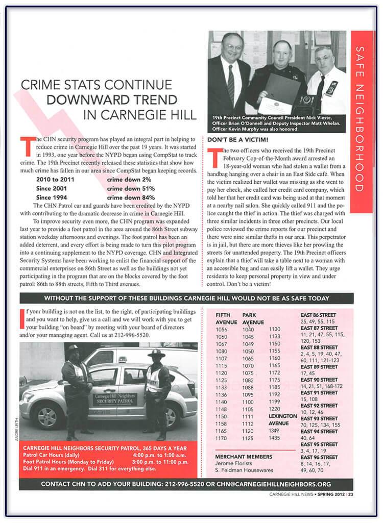 Carnegie Hill Crime Stats