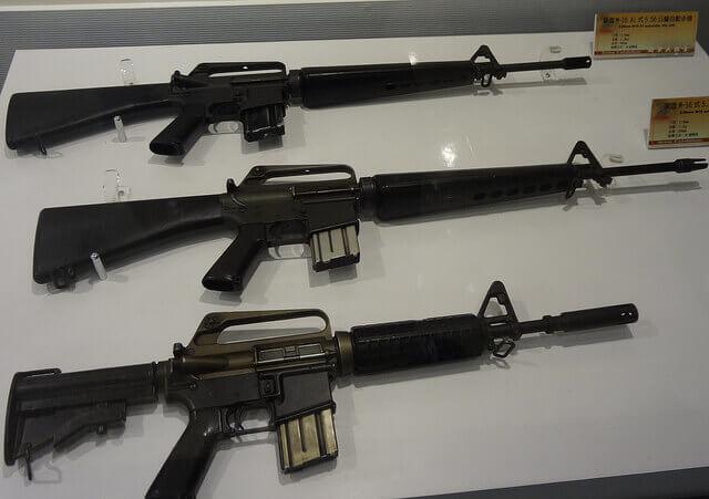 M16 rifles