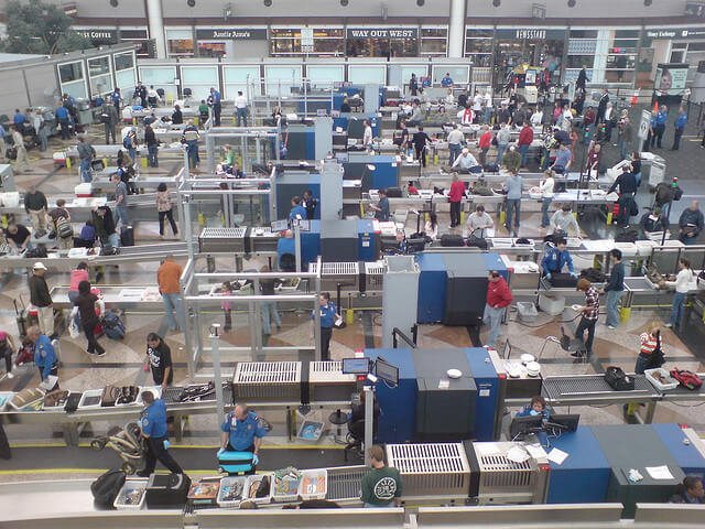 TSA screening from above